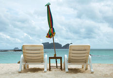 Chair for relax on the beach Royalty Free Stock Photos