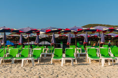 Chair for relax on the beach Stock Photography