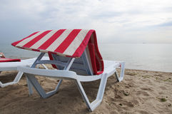 A chair for relaxing on the beach Royalty Free Stock Photo