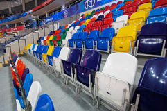 Chair in row of Sport arena Megasport, Moscow, Russia Royalty Free Stock Image