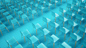 Chair rows Royalty Free Stock Photo