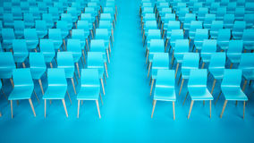 Chair rows Royalty Free Stock Image