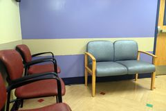 Chairs in waiting room stock photography