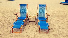 Chair on Sand Stock Photo