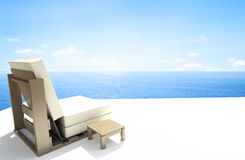 Chair with sea view vector illustration