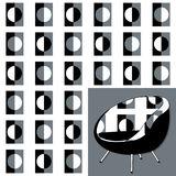 The chair and seamless pattern. Stock Images