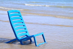 A chair at seaside Royalty Free Stock Image