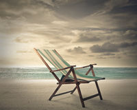 A chair at the seaside Royalty Free Stock Image
