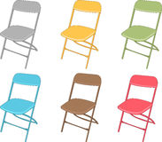 Chair Set. A Set of colorful chairs Royalty Free Stock Photo