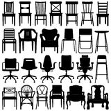 Chair Set Black Royalty Free Stock Images