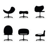Chair set black vector Stock Photo