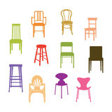 Chair Set. Colorful Chair Set. illustration Vector royalty free illustration
