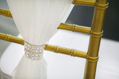 Chair setting for wedding ceremony. Royalty Free Stock Photography