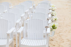 Chair setting for Wedding Royalty Free Stock Image