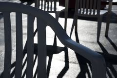 Chair shadow patterns Stock Photo