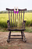 Chair and Shoes - for a wedding Stock Photo