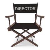 Chair Shows Direktors Film-Produzent Or Filmmaker Lizenzfreies Stockbild