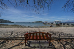 Chair. At Sichang island,Thailand Royalty Free Stock Images