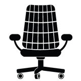 Chair silhouette Stock Photo