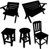 Chair silhouette  vector Royalty Free Stock Image
