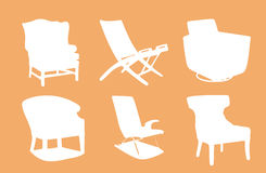 Chair Silhouettes Stock Photo