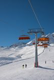 Chair ski lift Royalty Free Stock Images