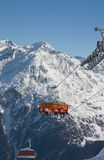 Chair ski lift Stock Images