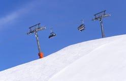 Chair ski lift in Alps Stock Image