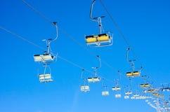 Chair ski lift Stock Photography