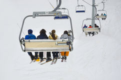 Chair ski lift Royalty Free Stock Photos
