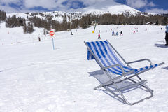 Chair on a ski slope Royalty Free Stock Image
