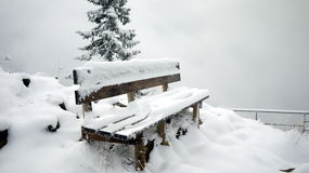 Chair and The Snow Stock Image
