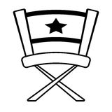 Chair star director film outline Royalty Free Stock Photography