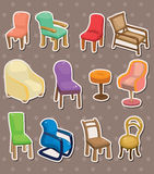 Chair stickers Stock Photos