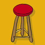 Chair: stool (vector). Hand draw chairs lineart Royalty Free Stock Image