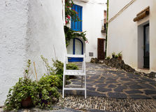 Chair on the street. In Spain stock photo
