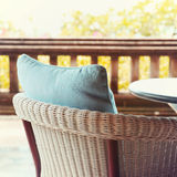 Chair at summer terrace restaurant Royalty Free Stock Image