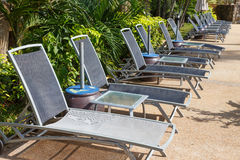 Chair for sunbathe Stock Image