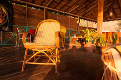 Chair sunset goa. India cafe interior Stock Image