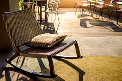 Chair in sunset Royalty Free Stock Image