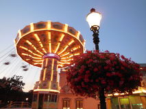 Chair swing at Prater Park & x28;wurstelprater amusement park& x29; Stock Photography