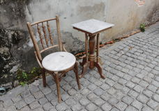 Chair and table Stock Photography