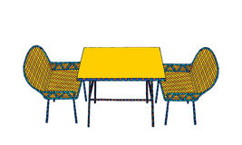 Chair and table. Illustration of table and chair Stock Image