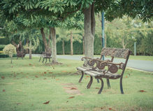 Chair and table. Old vintage wooden or iron  chair and table Royalty Free Stock Photos