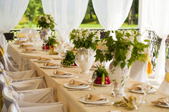 Chair and tables set for wedding Stock Photography