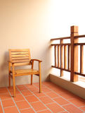 Chair in terrace. Wooden chair for relax in terrace Stock Image