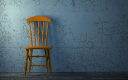 Chair to face a blank wall Stock Photos