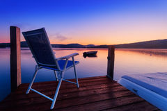 Chair to watch sunrise Royalty Free Stock Image