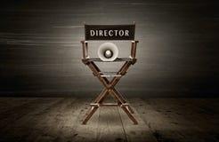 chair trä för stycke för möblemang för designdirektörtyg vitt Royaltyfria Bilder