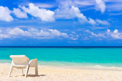 Chair on tropical beach Stock Photos
